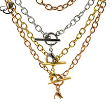 18'' (45cm) Silver/Rose gold/Gold 316L Stainless Steel Toggle Chain Floating Locket Pendant Necklace SN020(China)