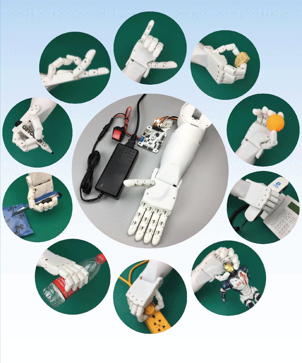 Active Components 1:1 7 Dof Smart Bionic Arm Manipulator Teaching Diy Kit 7 Axis Freedom Degree Fingers Hand Wrist Duino 51 Control