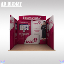 3m*3m Exhibition Booth High Quality Portable Tension Fabric Banner Advertising Display Wall With Single Side Printing(China)