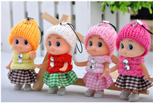 5PCS/set NEW Kids Toys Soft Interactive Baby Dolls Toy Mini Doll For girls and boys  Free Shipping