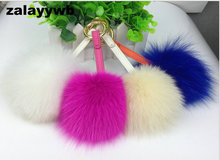 zalzyywb fashion luxury bag charm big colorful fox fur pom poms pendant bag bug lovely fur balls apparel accessory wallets