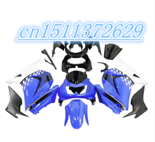 blue white  black fairings Kawasaki Ninja 250R 2008 2009 2012 EX250 08-12 ZX 250R