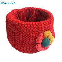 Oct 29 Amazing Flower Winter Kids Scarf Children Fashion Little Boy Girl Ring Scarf Knitted Neck Warmer