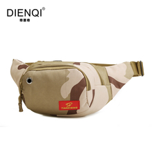 DIENQI Famous Brand High Quality Canvas Waist Bags Men Vintage Ourdoor Equipment Multifunction Fanny Packs Male Travelling Bags