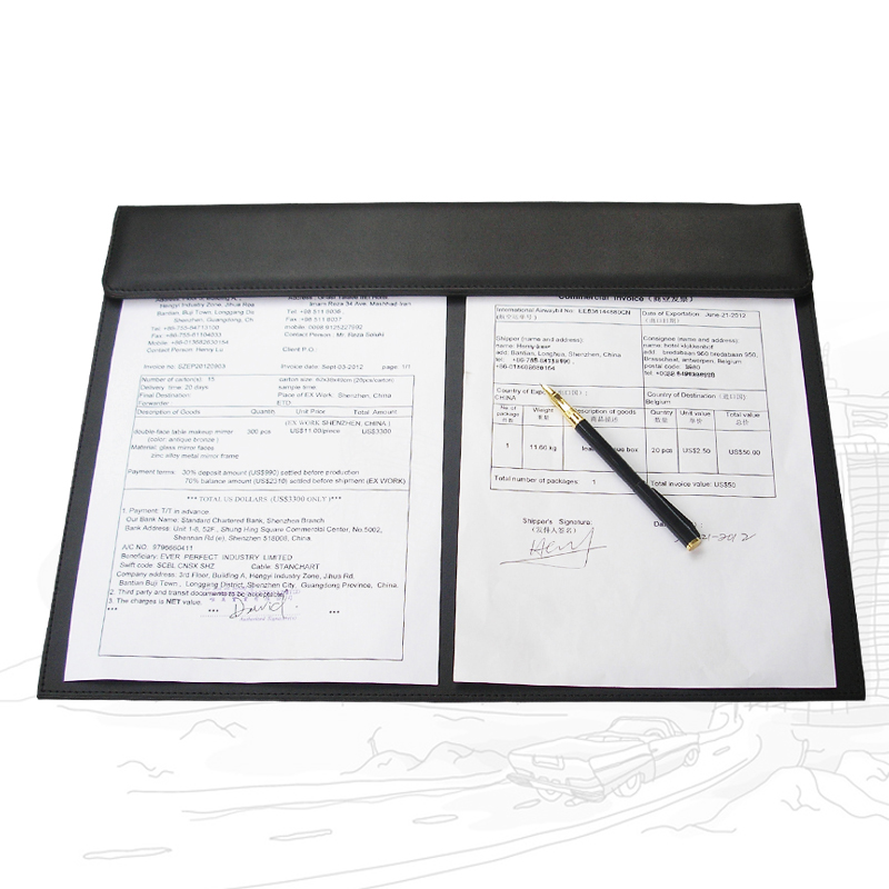 Office Leather Desktop Writing Board A3 File Paper Clip Drawing &amp; Writing Board Writing Pad Tablet A186<br><br>Aliexpress