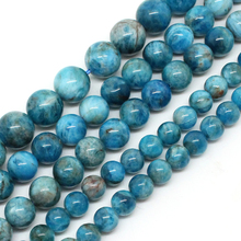 Natural Apatite Stone Round Loose Spacer Beads For Jewelry Making Bracelet Necklace 15inches/strand 6/8/10/12mm Pick Size(China)