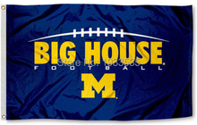University of Michigan Wolverines Flag UM Big House Large Banner Flag 3' x 5' Banner brass metal holes Flag