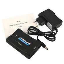HDMI to Scart Converter AV Signal Adapter Converter HD Receiver hdmi 1080P for Phone TV with Power Adapter Support
