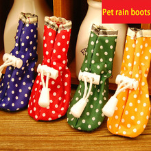 Pet dog Shoes Cat Puppy Shoes Anti-slip Comfortable Protective Special Dots Rain Boots For Small Dogs shoes Candy Colors(China)