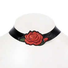 Women Bohemian Printed Flower embroidery floral choker necklace Luxurious chain necklace accessories Club party necklace bijo
