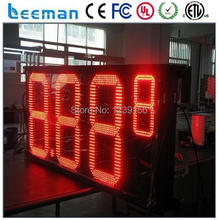"leeman 10inch 12""  7 segments 8.88 9/10 outdoor gas station led price sign outdoor waterproof advertising led gas price sign"
