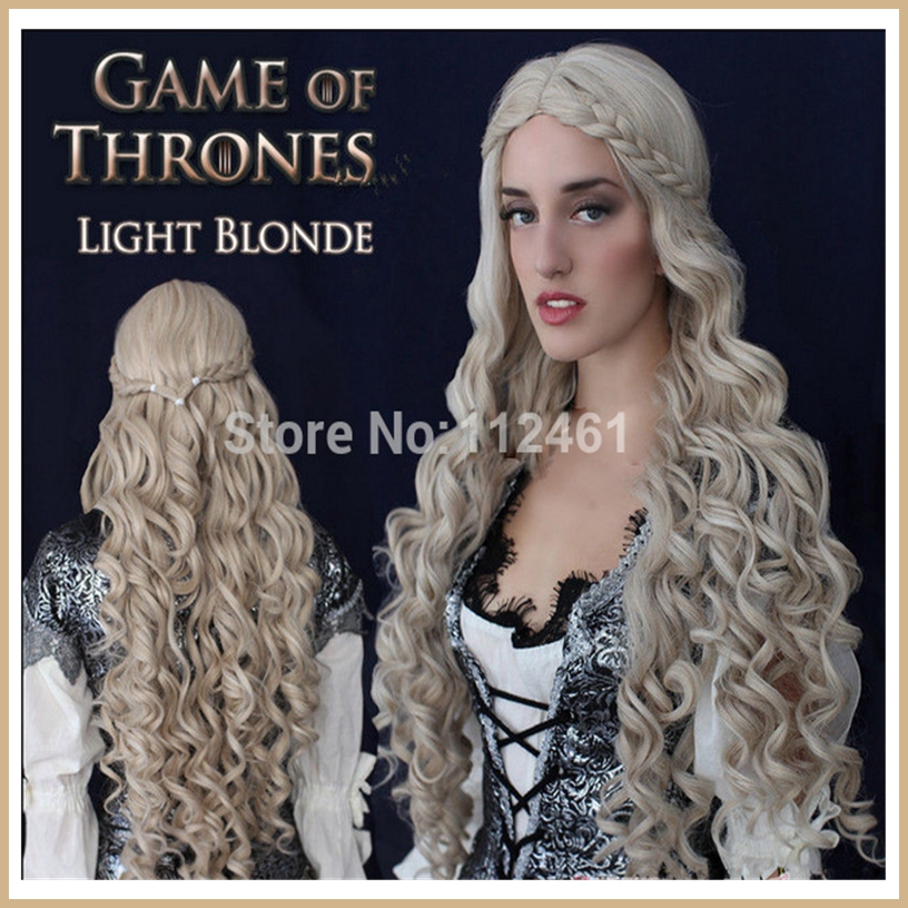 1pc/Lot Game of Thrones Cersei Lannister Cosplay Wig Linen Hair Wavy Long 90cm Movie Cosplay Hair Piece Synthetic Japan Hair<br><br>Aliexpress