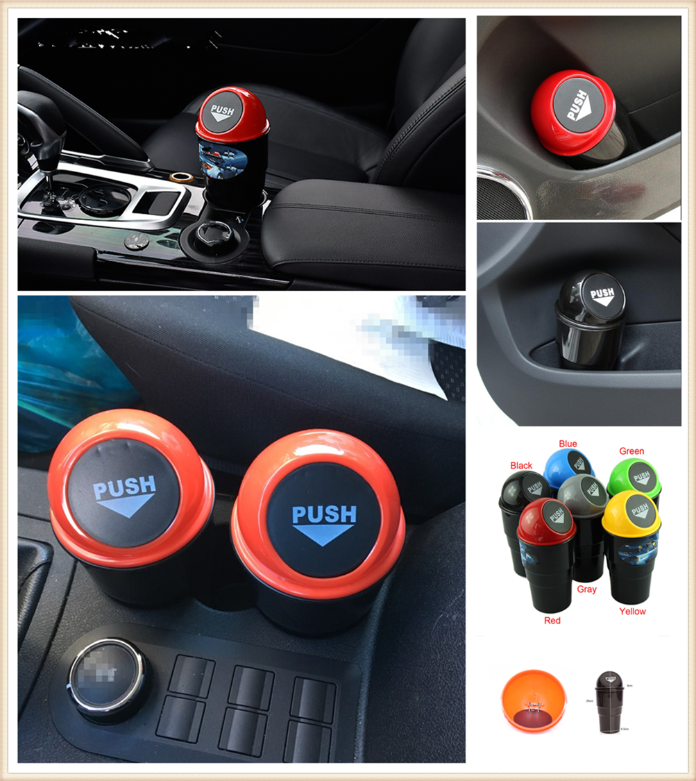Car Garbage Can Auto Trash Dust Case Holder Bin box Car-styling for Chevrolet Cavalier Volt SS Chevelle FNR 1970 1967