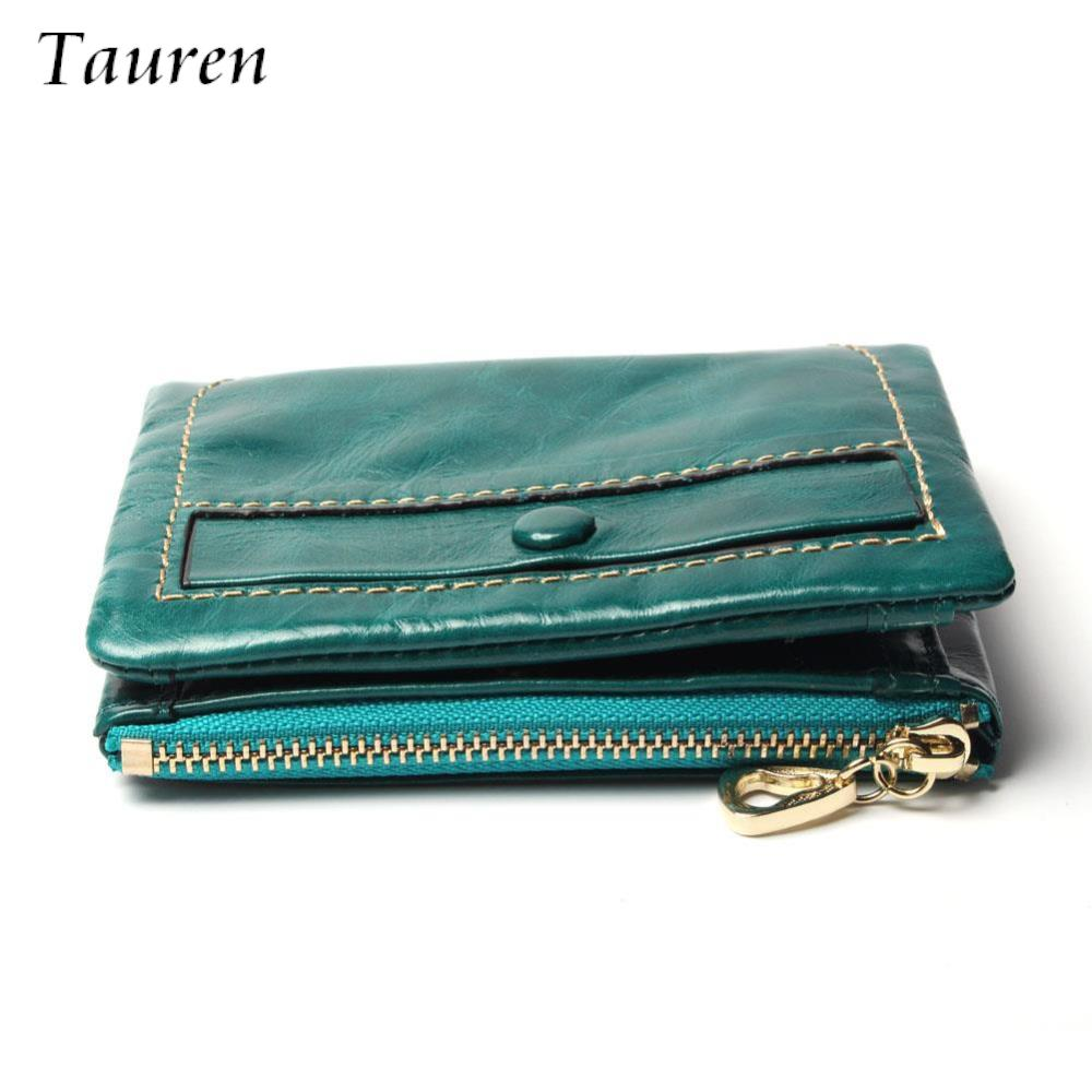 Genuine Leather With Hasp Oil Wax Leather Women Wallet Holder New Short Wallet Womens Zipper Coin Purse Candy Color Wallet<br><br>Aliexpress