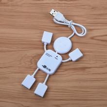 FFFAS USB Hub Man Shape 4 Port Charging Hub Mobile Phone Charger For Laptop PC Computer USB flash Robot Men Human Being Cable(China)
