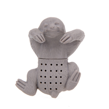 Teapot Cute Sloth Infuser Silicone Tea Sloth Strainer Filter Tea Infuser for Tea Drinking Accessories Drinkware(China)