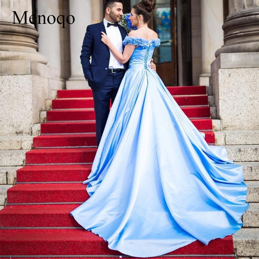 Платье Невесты Синего Цвета
