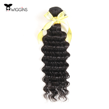 Wiggins Hair Deep Curly Brazilian Hair Non-Remy Hair Weft 100% Human Hair Weave Bundles Natural Color Free Shipping