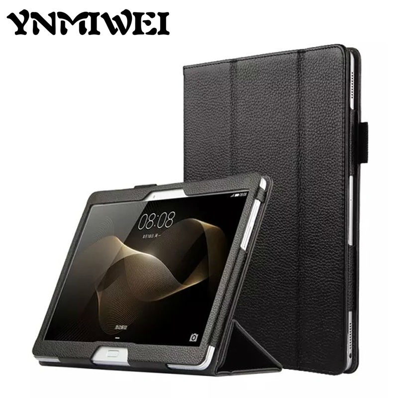 MediaPad M2 10.0 Genuine Leather Case Cover 10.1 Stand Skin for Huawei MediaPad Media Pad M2 10.0 10.0-A01W Protective Shell<br>