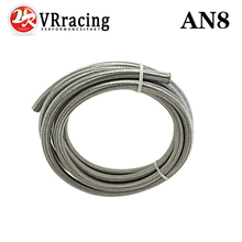 "VR RACING - AN8 8AN AN -8 (11.2MM / 7/16"" ID) STAINLESS STEEL BRAIDED Racing Hose Fuel Oil Line 5 METER/5M VR7113"