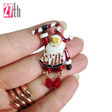 2017 Christmas Sisha Claus  Costume Brooch Scar Clip Best Seller Collar Pin Christmas Gift Free Shipping
