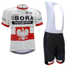 2017 White BORA Cycling jersey bike shorts set Ropa Ciclismo quick dry MTB team pro cycling wear bicycle maillot Culotte