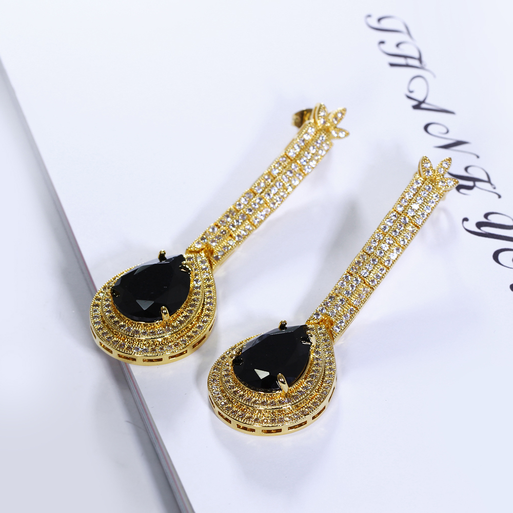 big water drop stone earrings (14)