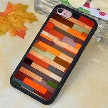 Newest Colorful Wood Panels Pinted Soft Rubber Skin Cell Phone Cases For iPhone 6 6S Plus 7 7 Plus 5 5S 5C SE 4S Back Shell