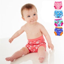 Leakproof Diapers for Swimming Reusable Nappies for Swim Nappy Swim Diaper Trunks Baby Swim Diapers for Boys Girl 6M-5T(China)