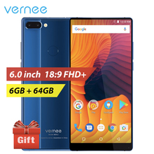 vernee Mix 2 4GB 64GB Mobile Phone 6.0 inch 18:9 All Full Screen Android 7.0 Phone Dual Camera Smartphone Octa Core 4G Cellphone(China)