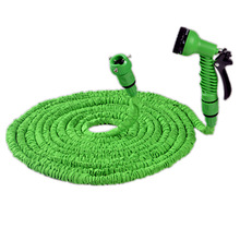 hot sale 1set 25ft expandable magic garden hose watering wash car retractable pipe water with spray gun(China)