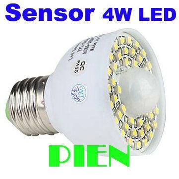 Motion Sensor LED Light 4W 3528 45 LED Auto PIR detector Wireless Bathroom Bulb E27 Lamp 200-240V Free Shipping 1pcs/lot<br><br>Aliexpress