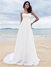 Vestido De Noiva 2016 Hot New Design Bridal Gown Embroidery Beading Sequins Empire Sweetheart Long Beach Wedding Dresses