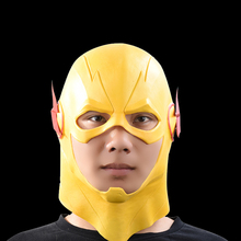 The Flash Superhero Masks Movie Cosplay Halloween Full Head Latex Mask DC Collectible Toys (yellow) party mask(China)