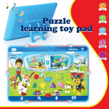 English language Intelligent Toy pad Learning Machine Kid Laptop Toy Computer with LED Light  Educational Toys for Children