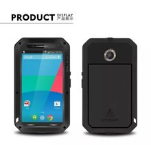 nexus 6 Original Love mei Waterproof Case For Google Motorola Nexus 6 case Dropproof Aluminum case Powerful shockproof Case