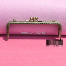 10pcs/lot 15cm Antique Brass Metal Handbag Frame Kiss Clasp Bag Making Supplies  Dual compartment Freeshipping