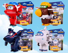 1pcs Super Wings Action Figure Toys Mini Airplane Robot Superwings Transformation Anime Cartoon Toys For Children Boys Gift(China)