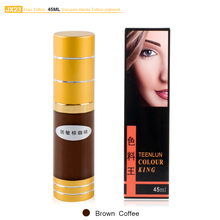 Hao Tattoo JX23 Brown Coffee Eyebrow Permanent Makeup Pigment Vacuum Sterile Cosmetic Ink 45ml(China)