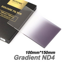 New Zomei Square Filter 100mm x 150mm Graduated Neutral Density Gray GND ND4 100mm*150mm 100x150mm for Cokin Z-PRO Series Holder(China)