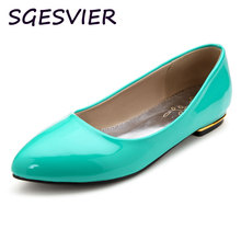 SGESVIER solid green ree black women pumps pointed toe low heels breathable classic woman shoes ne design women pumps VV254