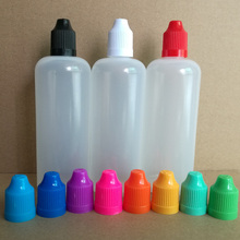 400pcs/lot, 120ml New PE Plastic Dropper Bottles With Childproof Caps and Long fine tips For E liquid Nail Gel by EMS