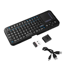 iPazzport Mini Bluetooth Wireless Handheld Keyboard Mouse Touchpad LED Pointer Backlight Remote Control for PC Smartphone Tablet(China)