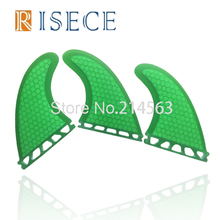 Future base surf fin green honeycomb surfboard future fins future fiberglass thruster fin set(China)