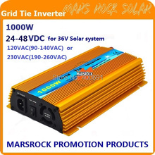 Promotion!! 1000W 36V Grid tie micro inverter, DC22V~45V, AC90V-140V or 190V-260V for 1200W 36V Solar panel and Wind Power !(China)