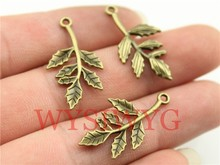 WYSIWYG 10pcs 29mm Antique Bronze Color Branch Charms(China)