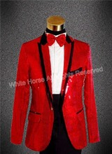 Red blazer men sequin blazer men blazer slim fit mens blazer jacket mens colored suits red suit jacket