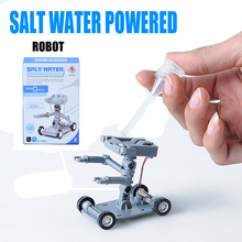 2017 Hot Sale Salt Water Power Robot DIY Mini Without Battery Safe Creative Toys Car Children Educational Toy Gift