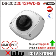 Hik 4M Network PoE Camera DS-2CD2542FWD-IS support 3D DNR Built-in Micro Mini Dome Camera with IP67 IK08 Protection POE Camera