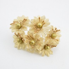 Buy silver flowers artificial and get free shipping on aliexpress 6pcs golden silver glitter artificial silk flower bouquet for wedding decoration scrapbook diy handcarft fake flowers mightylinksfo